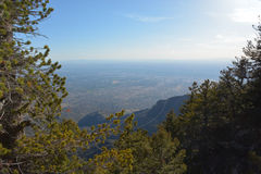Sandia Mountains Tramway Royalty Free Stock Images