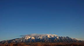 Sandia peak. This is the mountain range of albuquerque new Mexicos sandia mountains Royalty Free Stock Images
