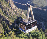 A Sandia Peak Aerial Tramway Uphill Tramcar Royalty Free Stock Photos