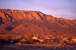 Sandia Peak at Sunset Stock Photo