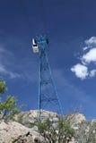 Sandia-Tramauto am Turm - vertikale Orientierung Stockbild