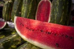 Sandia watermelon. Selling watermelon truck / venta de sandias en royalty free stock image