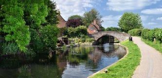 Sandiacre锁村庄,诺丁汉郡,英国 免版税图库摄影