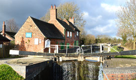 Sandiacre Lock Cottages Stock Images