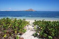 Sandig bana till havstranden Royaltyfri Fotografi