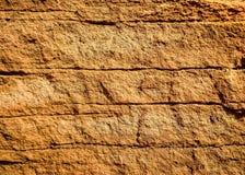 Sandig brun väggbakgrund eller textur Royaltyfri Fotografi