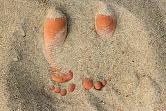 Sandig fot Arkivfoto