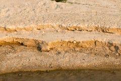 Sandig jord Arkivfoton