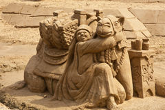 sandig kamel Arkivfoto