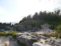 Sandig klippa Arkivbild