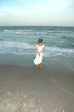 sandig kustsolnedgång Royaltyfri Foto