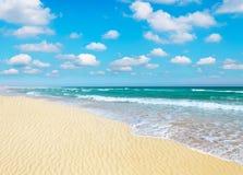 Sandig strand Arkivbilder