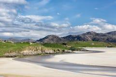 Sandig strand av Uig på Lewis Royaltyfri Foto