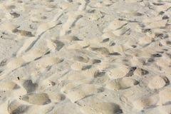 Sandig strand, bakgrund av sandslutet upp, landskap royaltyfria bilder