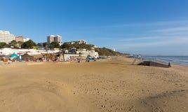 Sandig strand Bournemouth Dorset England UK nära till Poole Royaltyfri Fotografi