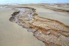 Sandig strand för sjösida Arkivbild