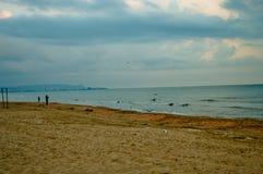 Sandig strand i Anapa Royaltyfri Foto