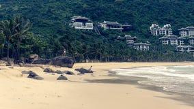 Sandig strand i Da Nang arkivbild