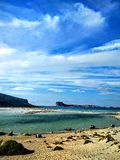 Sandig strand i Kreta Arkivfoto