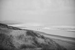 Sandig strand i Oregon Arkivfoton