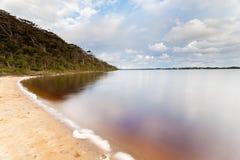 Sandig strand nära Walpole Royaltyfri Fotografi