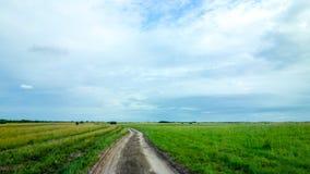 Sandig väg i Mocambique Arkivfoton