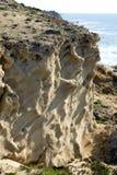 Sandiga berg på en Arsuf kust Fotografering för Bildbyråer