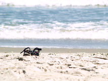 sandiga sandals Arkivfoton