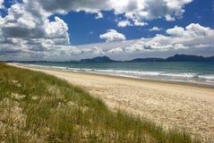 Sandiga stränder som är nyazeeländska Arkivbild