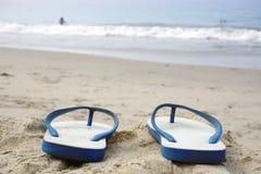 sandiga strandkustsandals Royaltyfri Bild