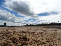 sandiger Strand in Aberdeen lizenzfreie stockfotografie