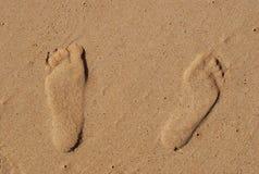 Sandigt fotspår Arkivbild