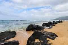 sandigt strandhav Arkivfoton
