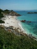 sandigt strandhav Fotografering för Bildbyråer