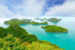 sandigt strandhav Koh Samui, Thailand Royaltyfri Foto