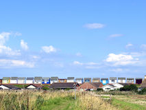 Sandilands, Sutton na morzu, Lincolnshire. Obraz Stock