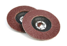 Sanding discs for angle grinder Stock Image
