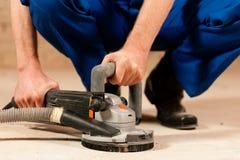 sanding för cementgolv Royaltyfria Foton