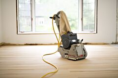 Free Sanding Hardwood Floor With The Grinding Machine Only Tool Stock Image - 200630961