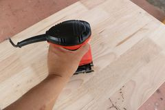 Sanding machine Stock Images