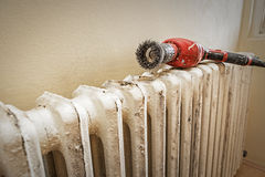 Sanding radiator Stock Photos