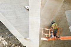 sanding seamsarbetare för cement Fotografering för Bildbyråer