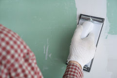 Free Sanding The Drywall Mud Royalty Free Stock Images - 40963619