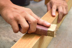 sanding trä Royaltyfri Foto