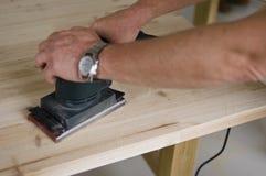 sanding trä Arkivfoton