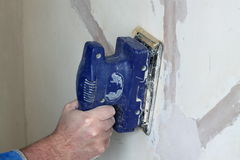 Sanding wall 1 Stock Photos