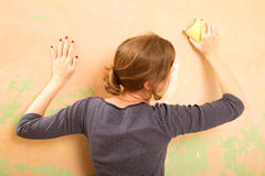 Sanding wall Royalty Free Stock Photo
