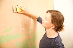 Sanding wall Royalty Free Stock Photos