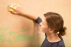 Sanding wall Stock Photography