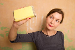 Sanding wall Royalty Free Stock Photography
